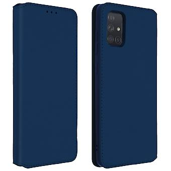 Classic Edition stand case with card slot for Samsung Galaxy A71 - Blue