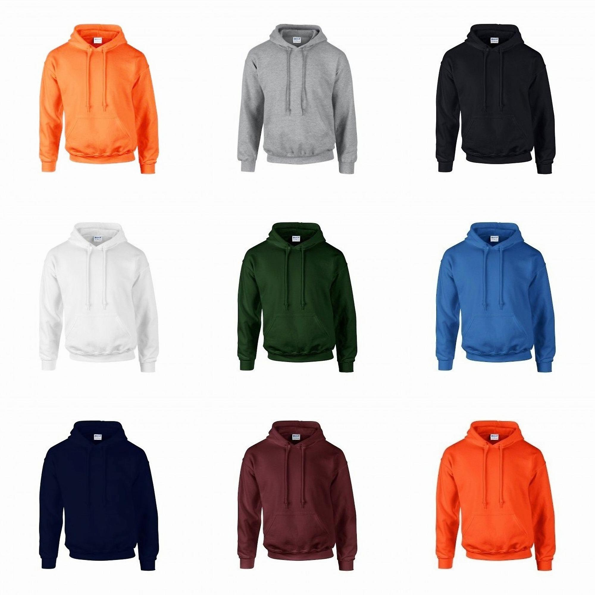 Gildan Ultra Blend Pullover Hooded Sweatshirt Safety Orange 2XL