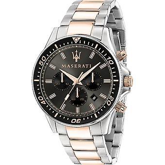 Maserati - Наручные часы - Мужчины - SFIDA 44MM CHR GUN DIAL BR SS-RG - R8873640002