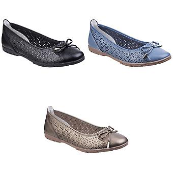 Fleet & Foster Womens/Ladies Lagune Leather Flat Ballerina Shoes