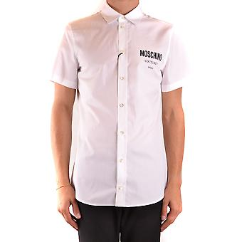 Moschino Ezbc015105 Men's White Cotton Shirt