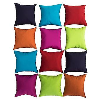 Gardenista Small Cushions with Covers | 12 Pcs Mixed Mini Bright Colours | Waterproof Small Pillow Set for Garden, Living Room, Sofa, Bed, Car | Hypoallergenic Foam Crumb Filled (20x20 cm)