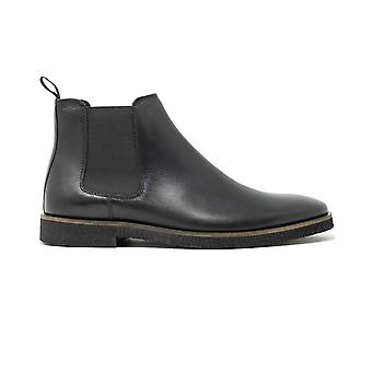 Walk london hornchurch chelsea boot in black leather