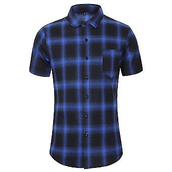 Allthemen Men's Buffalo Checked T-shirts Casual Plaid Printed Tops