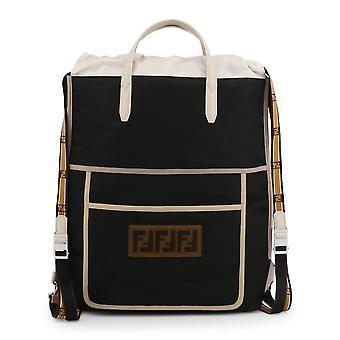 Fendi Original Unisex All Year Backpack/Rucksack - Black Color 34345