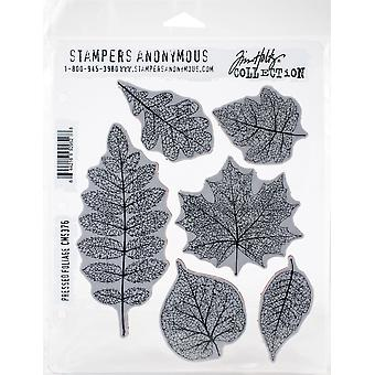"Tim Holtz Cling Stamps 7""X8.5""-Pressed Foliage"