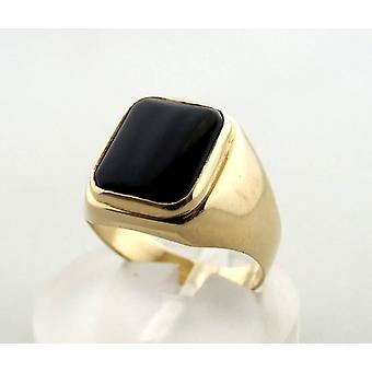 14 carat gold ring with onyx