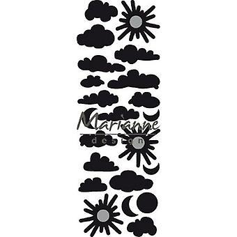 Marianne Design Craftables Cutting Dies - Punch Die Clouds CR1459