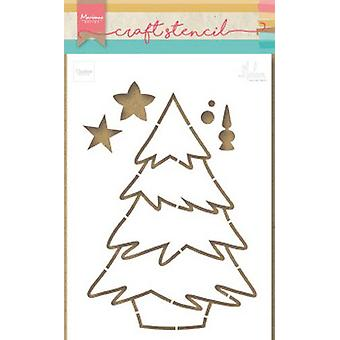 Marianne Design Craft Stencil Christmas Tree By Marleen Ps8046 21x15 cm
