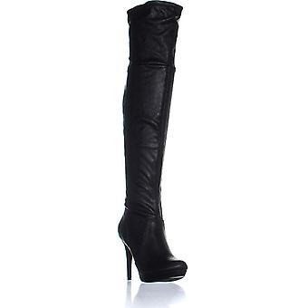 Thalia Sodi naisten Beckie Faux nahka Platform saappaat musta 7,5 Medium (B, M)