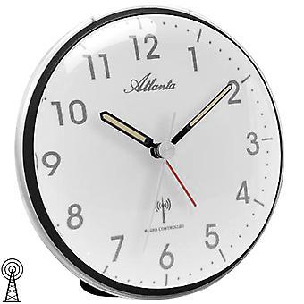 Atlanta 1828/7 réveil radio réveil lumière noire snooze tranquillement sans ticking