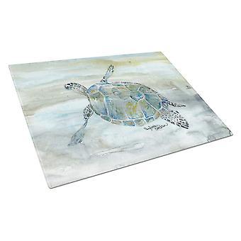 Carolines Treasures  SC2006LCB Sea Turtle Watercolor Glass Cutting Board Large