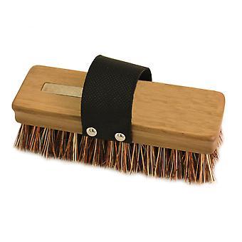 Charles Bentley Charnwood Trädgård Patio Bana Union Fiber Rengöring Hand Scrub Brush