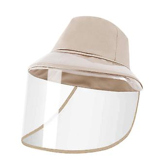 Unisex Anti-spitting Protective Hat with Removable Face Shield