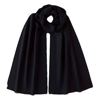 Johnstons of Elgin Extra Fine Merino Wool Scarf - Dark Navy