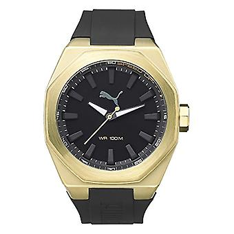 Cougar Time Victory wrist watch, analog, plastic band, gold/black