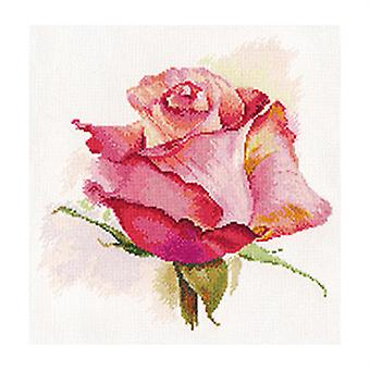 Kit Alisa Cross Stitch - O Sopro do Charme rosa