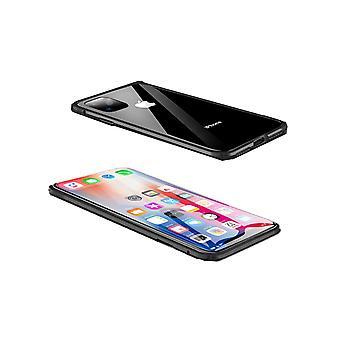 Concha magnética com vidro temperado de dois lados - iPhone 11 - Preto