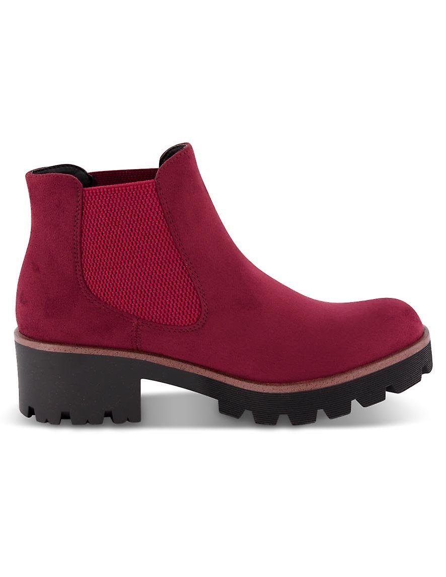 Rieker microscamo red ankle boots womens red CBf5A