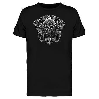 Meerjungfrau und Kapitän Skull T-Shirt Herren-Bild von Shutterstock