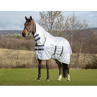 Asker Fly Combo Horse Rug - White
