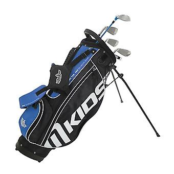MKids Pro Junior Kids Golf Bag and Clubs Half Set Right Hand Blue 10-12 Years