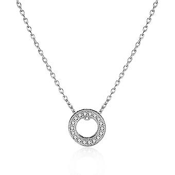 Silver circle of life necklace created with swarovski® crystals