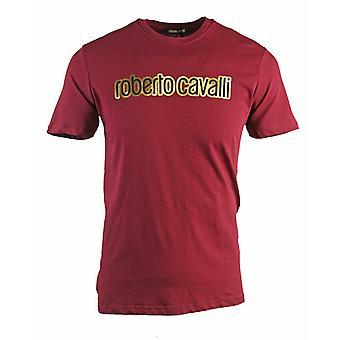 T-shirt Logo Bourgogne Logo Roberto Cavalli