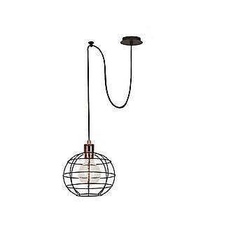 Lampada a Sospensione Wire-Fall 2 Color Rame, Nero in Rame 100x20x113 cm