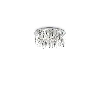 Lampada a soffitto cromato Royal Crystal 15 Bulbi