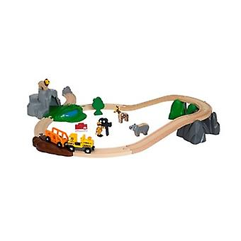 Ensemble d'aventure de safari de BRIO - 26 pièce de train en bois de jouet 33960