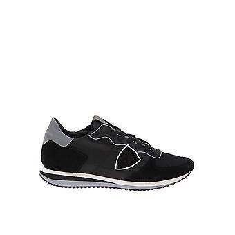Philippe Modelo Tzluwb10 Men's Black Leather Sneakers