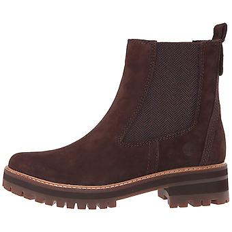 Timberland Womens Courmayeur Valley Leather Almond Toe Ankle Chelsea Boots