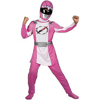 Rosa Power Ranger barn kostym