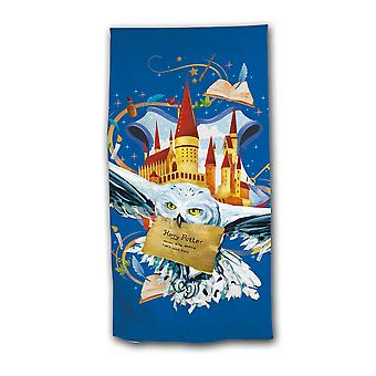 Harry potter boys towel owl castle