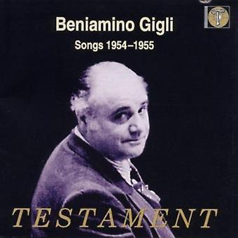 Beniamino Gigli - Songs 1954-55 [CD] USA import