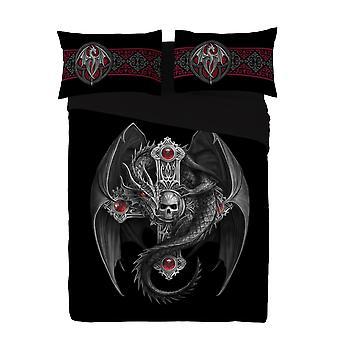 Wild Star - gothic Drachen-Duvet & Kissen-Hüllen Abdeckung Set uk superking