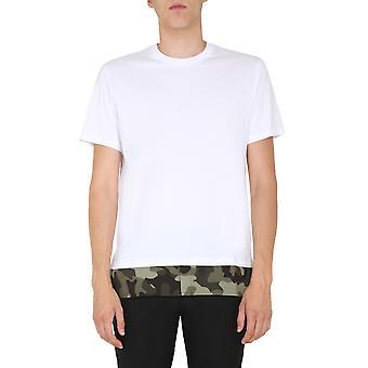 Neil Barrett Pbjt837bp571s2865 Men's White Cotton T-shirt
