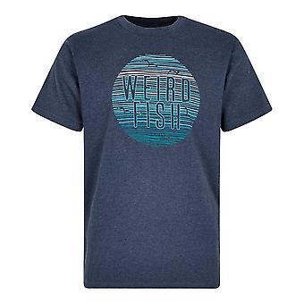 Weird Fish Men's Sunset T-Shirt Blauw
