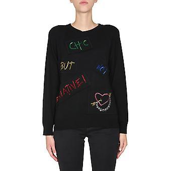Boutique Moschino 093758030555 Dames's Zwarte Viscose Trui