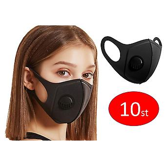 10 PACK Face Mouth Mask with breathing valve, Washable Reusable