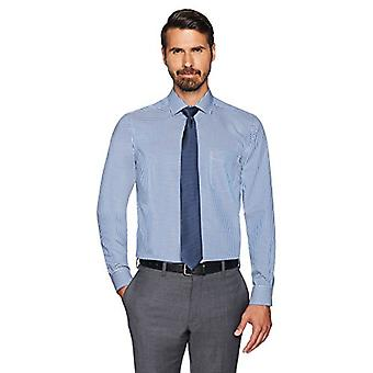 BUTTONED DOWN Men's Classic Fit Spread-Collar Small Gingham Non-Iron Dress Sh...