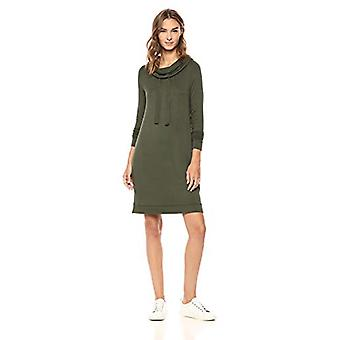 Brand - Daily Ritual Women's Supersoft Terry Funnel-Neck Dress, Olive,...