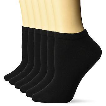 Essentials Women's 6-Pack Casual Low-Cut Socks, Black, 6 a 9