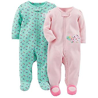 Simple Joys by Carter's Baby Girls' 2-Pack Cotton Footed Sleep and Play, Pink...