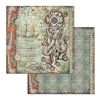 Stamperia Octopus 12x12 Inch Paper Sheets (10pcs) (SBB663)