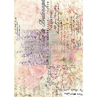 Re-Design with Prima Transfer Paper Floral Gardens