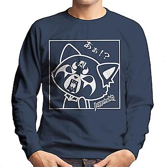 Aggretsuko Retsuko Rocking Rage Black And White Men's Sweatshirt