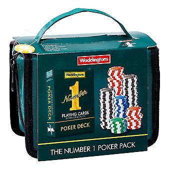 Waddingtons No.1 Poker Travel Set