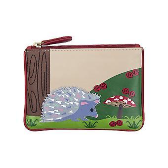 Primehide Small Womens Coin Purse - Hedgehog Design Change Wallet - 724